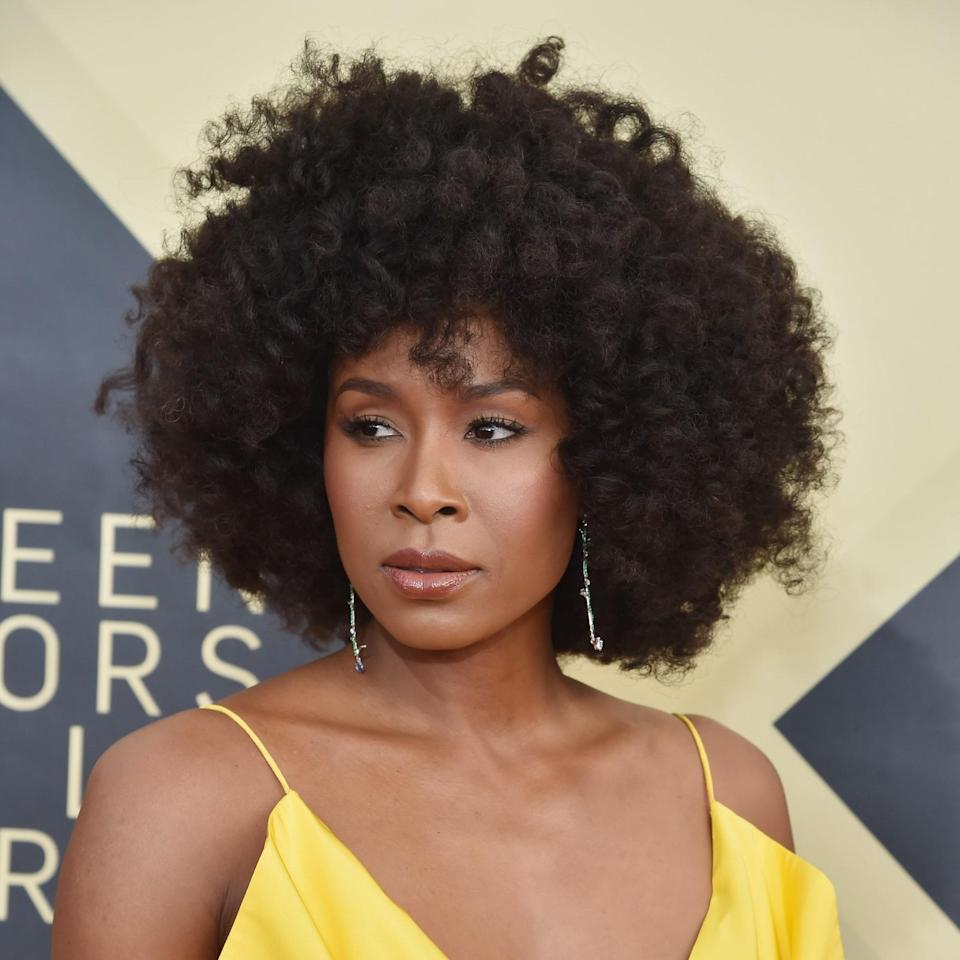 """<p>Actor Sydelle Noel literally crushes her opponents in the Netflix original series <em>Glow,</em> but in real life, she's taking no prisoners with this arresting coif. Smaller curls begin at the top then gradually gets longer towards the bottom. """"Coily to kinky hair will work best [for this haircut] because it showcases the round shape,"""" says <a href=""""https://www.instagram.com/rleighbeauty/?hl=en"""" rel=""""nofollow noopener"""" target=""""_blank"""" data-ylk=""""slk:Leigh Hardges"""" class=""""link rapid-noclick-resp"""">Leigh Hardges</a>, hairstylist at <a href=""""https://maxinesalon.com/staff_leigh_hardges/"""" rel=""""nofollow noopener"""" target=""""_blank"""" data-ylk=""""slk:Maxine Salon"""" class=""""link rapid-noclick-resp"""">Maxine Salon</a> in Chicago. If this was done on wavy or straight hair you wouldn't see the shape so clearly.""""</p> <p>Styling tip: use <a href=""""https://shop-links.co/1744199060780646116"""" rel=""""nofollow noopener"""" target=""""_blank"""" data-ylk=""""slk:Nairobi Wrapp-It Shine Foaming Lotion"""" class=""""link rapid-noclick-resp"""">Nairobi Wrapp-It Shine Foaming Lotion</a> with <a href=""""https://www.allure.com/story/how-to-use-flexi-rods?mbid=synd_yahoo_rss"""" rel=""""nofollow noopener"""" target=""""_blank"""" data-ylk=""""slk:flexi-rods"""" class=""""link rapid-noclick-resp"""">flexi-rods</a> or a twist set to give the hair its maximum length without losing the texture. """"After releasing the set, I would fluff at the roots using an afro pick and finish with a light oil like <a href=""""https://shop-links.co/1744199234104382935"""" rel=""""nofollow noopener"""" target=""""_blank"""" data-ylk=""""slk:Kérastase Elixir Ultime Oil Serum"""" class=""""link rapid-noclick-resp"""">Kérastase Elixir Ultime Oil Serum</a>.""""</p>"""