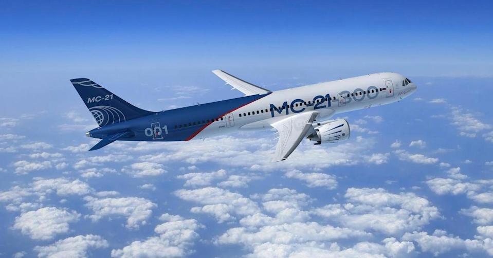 Irkut. A plane designed to take on Boeing and Airbus has completed its maiden flight.