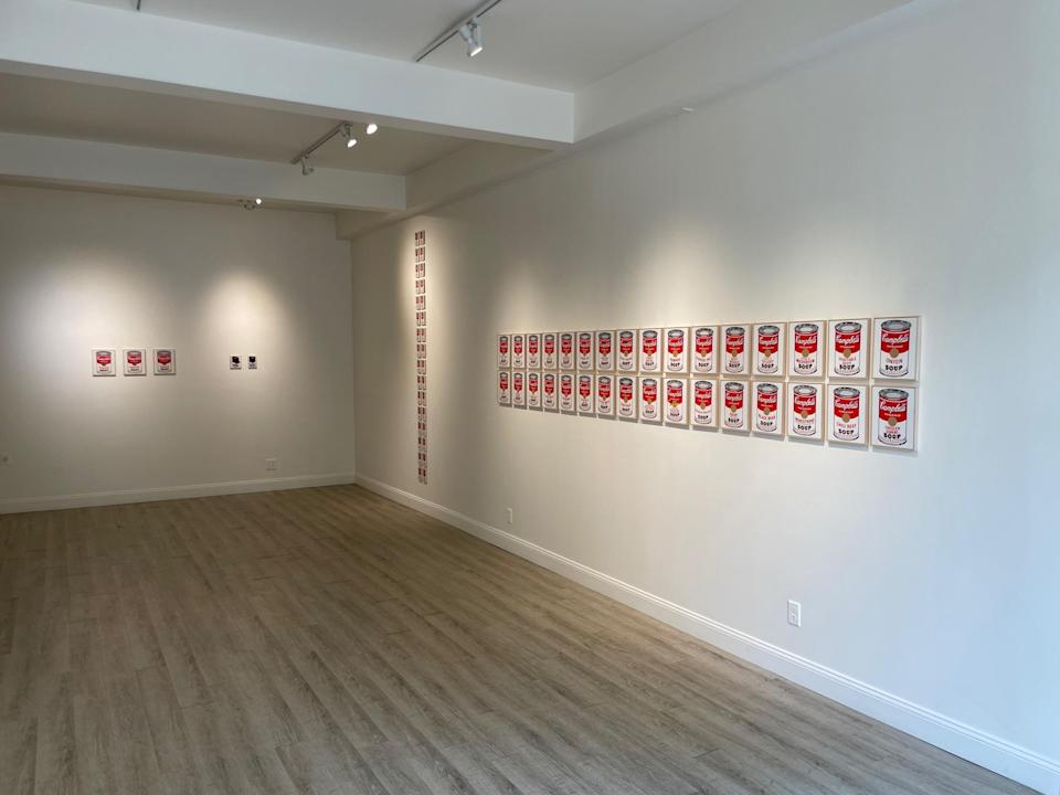 """""""Richard Pettibone: Andy Warhol, Campbell's Soup Cans, 1990-2019"""" at Honor Fraser Aspen galley. - Credit: Courtesy"""