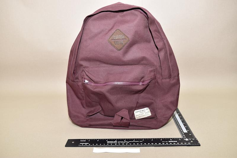 A pink backpack which Shaikh gave to an undercover officer to be converted into a bomb. (PA Images/Met Police)