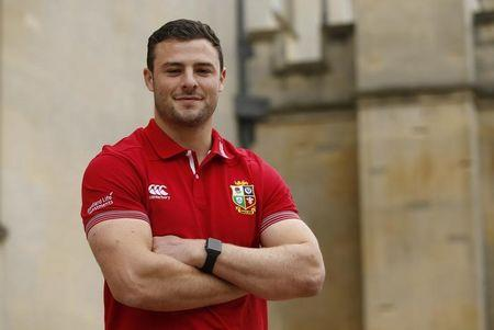 FILE PHOTO: Britain Rugby Union - British & Irish Lions Player Administration Day - Syon House, London Hilton Syon Park - 8/5/17 British & Irish Lions Robbie Henshaw poses Action Images via Reuters / Paul Childs Livepic