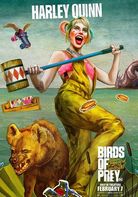 Birds Of Prey See Harley Quinn S Flying Skates And More In Whimsical New Character Posters Photos