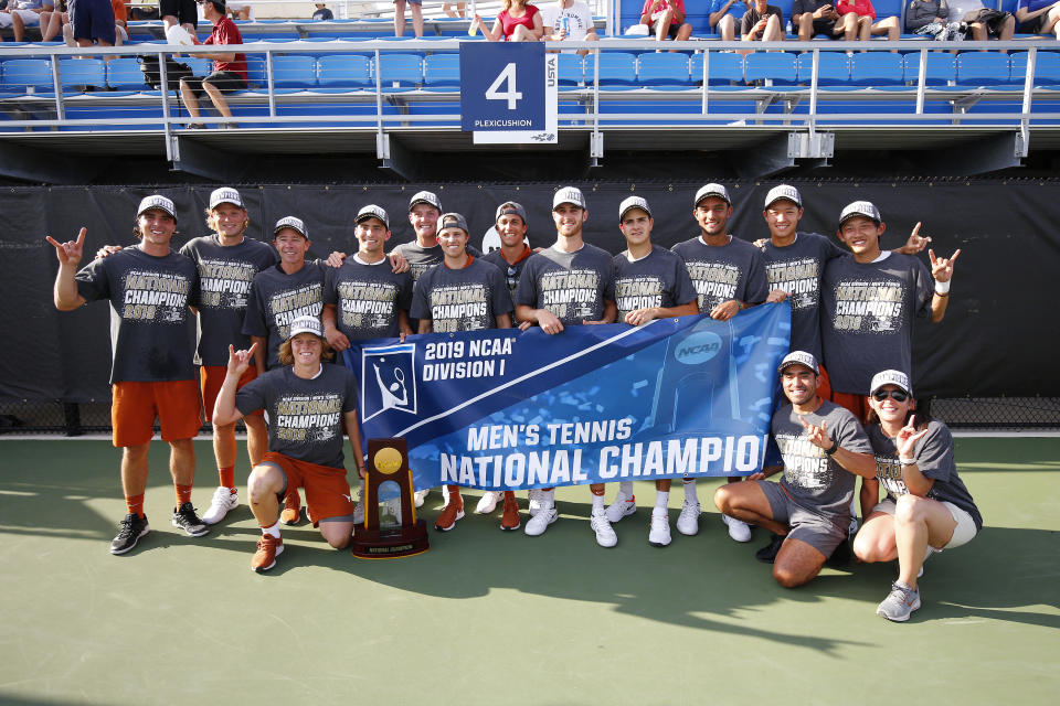 Best sport: men's tennis (national champion). Trajectory: steady. Only two schools (Stanford and UCLA) had a better spring than the Longhorns, who had seven Top Ten finishes and won the title in men's tennis. (That came after the coach, Michael Center, was fired in March for his role in the college admissions scandal.) Texas' four-year run of national titles in men's swimming came to an end, but the Horns still finished second and were fifth on the women's side.