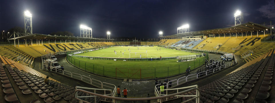 VOLTA REDONDA, BRAZIL - OCTOBER 07:  General view of Cidadania Stadium before a match between Flamengo and Atletico-GO as part of Brazilian Championship Serie A on October 7, 2010 in Volta Redonda, Brazil. (Photo by Buda Mendes/LatinContent via Getty Images)