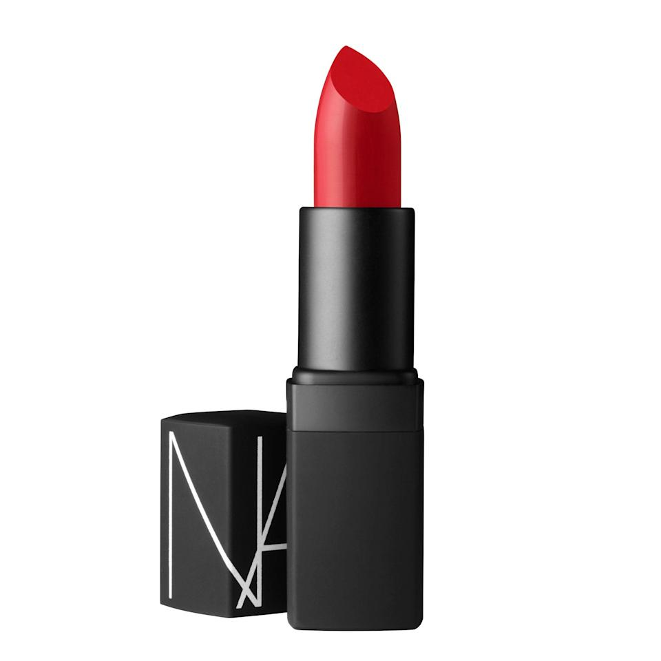 """<p>Nars's best-selling tube of red, the Semi Matte Lipstick in Jungle Red, is a mainstay in makeup artist <a href=""""https://www.instagram.com/tobimakeup/?hl=en"""" rel=""""nofollow noopener"""" target=""""_blank"""" data-ylk=""""slk:Tobi Henney"""" class=""""link rapid-noclick-resp"""">Tobi Henney</a>'s kit. """"Light skin tones always look amazing in a classic blue-toned red or even with a bit of a dark red,"""" she says. """"As long as it's on the cooler side, it's bound to suit anyone with fair-to-light skin.""""</p> <p><strong>$28 (</strong><a href=""""https://shop-links.co/1662825622549627468"""" rel=""""nofollow noopener"""" target=""""_blank"""" data-ylk=""""slk:Shop Now"""" class=""""link rapid-noclick-resp""""><strong>Shop Now</strong></a><strong>)</strong></p>"""