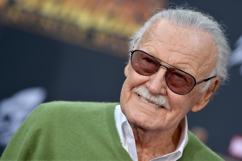 HOLLYWOOD, CA - APRIL 23: Stan Lee attends the premiere of Disney and Marvel's 'Avengers: Infinity War' on April 23, 2018 in Hollywood, California. (Photo by Axelle/Bauer-Griffin/FilmMagic)