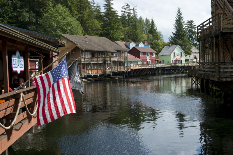 UNITED STATES - 2013/08/20: View of Creek Street the former Red Light district in Ketchikan, Southeast Alaska, USA. (Photo by Wolfgang Kaehler/LightRocket via Getty Images)