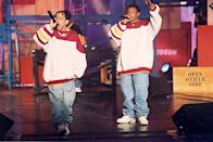"""<p>It's hard to trace this one, but some point to the existence of """"Da Bomb"""" by Kris Kross (released in 1993) for this one. </p>"""