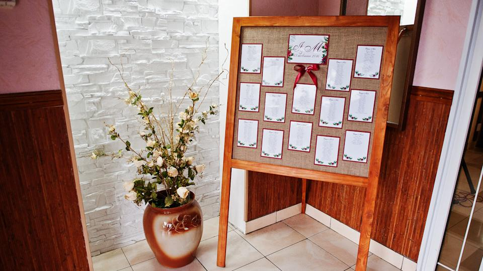wedding guest list and seating arrangement