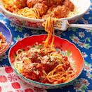 """<p>You can use any mix of meat here, but Ree recommends a 50/50 combination of ground beef and ground pork for the perfect meatballs.</p><p><strong><a href=""""https://www.thepioneerwoman.com/food-cooking/recipes/a9897/spaghetti-meatballs/"""" rel=""""nofollow noopener"""" target=""""_blank"""" data-ylk=""""slk:Get Ree's recipe."""" class=""""link rapid-noclick-resp"""">Get Ree's recipe. </a></strong></p><p><a class=""""link rapid-noclick-resp"""" href=""""https://go.redirectingat.com?id=74968X1596630&url=https%3A%2F%2Fwww.walmart.com%2Fsearch%2F%3Fquery%3Dpioneer%2Bwoman%2Bskillets&sref=https%3A%2F%2Fwww.thepioneerwoman.com%2Ffood-cooking%2Frecipes%2Fg37146272%2Fground-pork-recipes%2F"""" rel=""""nofollow noopener"""" target=""""_blank"""" data-ylk=""""slk:SHOP SKILLETS"""">SHOP SKILLETS</a></p>"""