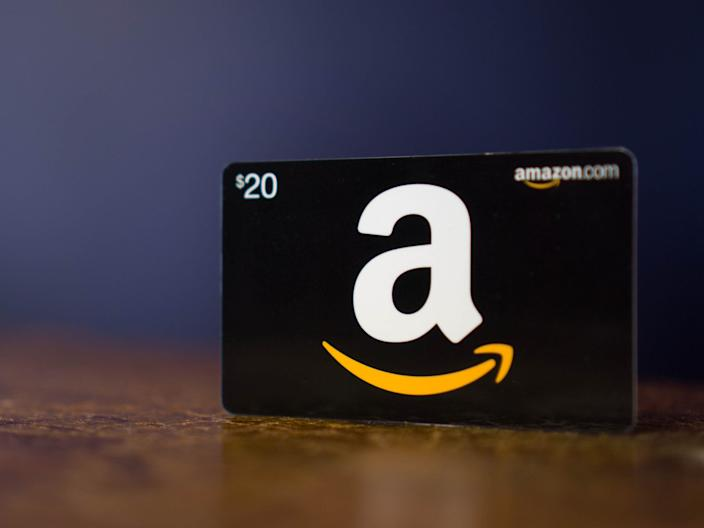 """Amazon gift cards can be bought both online and in stores. <p class=""""copyright"""">GaleanoStock/Shutterstock</p>"""