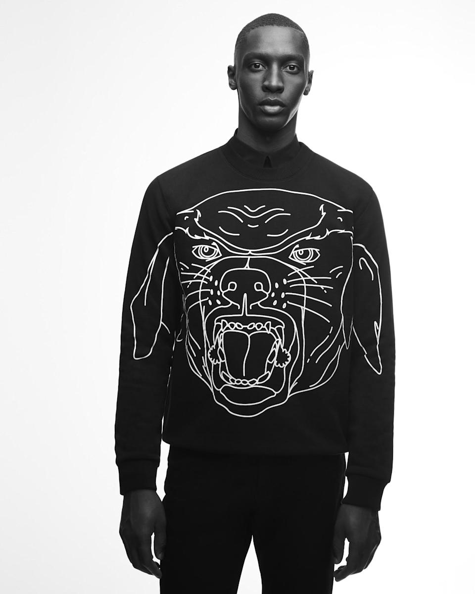 "<p>The 2017 Rottweiler Capsule from Givenchy by Riccardo Tisci </p><p><span>Get ready to for the next street style must have from Givenchy. The Rottweiler has been an iconic print for the house under Riccardo Tisci and this January, a small limited capsule collection with the animal print reinterpreted in white outlines will be available on black tee shirts, hats, backpack, sneakers and small leather goods. Lets play which Kardashian or supermodel will be seen in one of the pieces first! Available from January 5th from Givenchy stores and online <a href=""https://www.givenchy.com/en/homepage/spring-2017-pre-collection"" rel=""nofollow noopener"" target=""_blank"" data-ylk=""slk:Givenchy.com"" class=""link rapid-noclick-resp"">Givenchy.com</a> </span></p>"