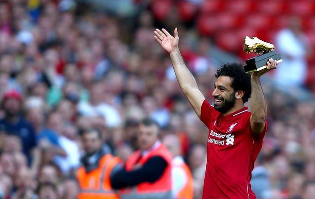 Mohamed Salah with the Premier League Golden Boot