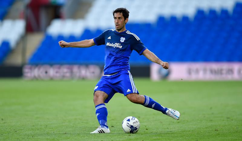 CARDIFF, WALES - JULY 28: Cardiff player Peter Whittingham in action during the Pre season friendly match between Cardiff City and Watford at Cardiff City Stadium on July 28, 2015 in Cardiff, Wales. (Photo by Stu Forster/Getty Images)