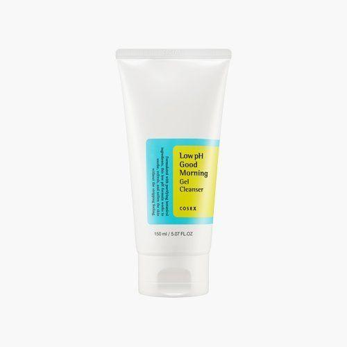 """This mildly acidic cleanser gently cleanses to make skin supple and clear. Get it <a href=""""https://www.amazon.com/Cosrx-Good-Morning-Cleanser-150ml/dp/B016NRXO06?tag=strat-skincareregimen71917-20"""" target=""""_blank"""">here</a>."""