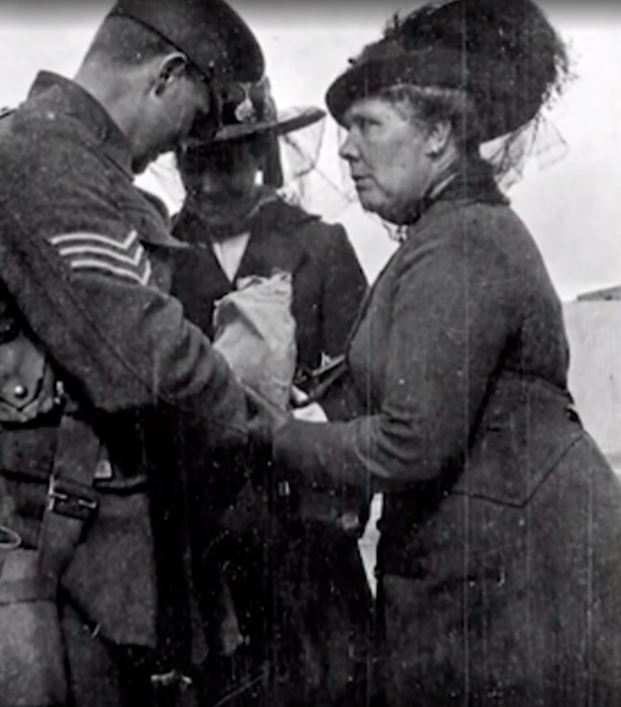 Richard Wilkins' grandfather and his mother going to Gallipoli