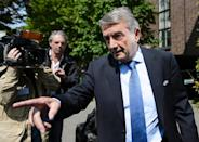 Germany's Wolfgang Niersbach, a UEFA executive and FIFA Council member, has been banned for one year from all football-related activities (AFP Photo/Fabrice Coffrini)