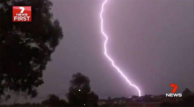 A Melbourne couple was struck by lightning as they pulled over to watch the storm. Picture: Supplied
