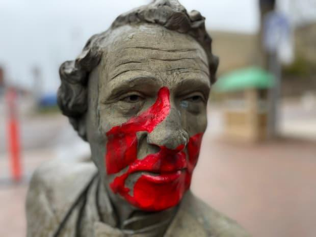 Many have called for the removal of the statue, and discussions about removing it have carried on at Charlottetown council. (Tony Davis/CBC - image credit)