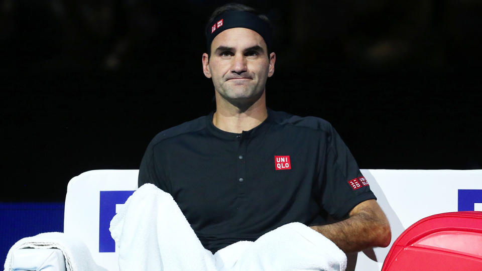 Roger Federer has bemoaned the start of his ATP Finals tournament. (Getty Images)