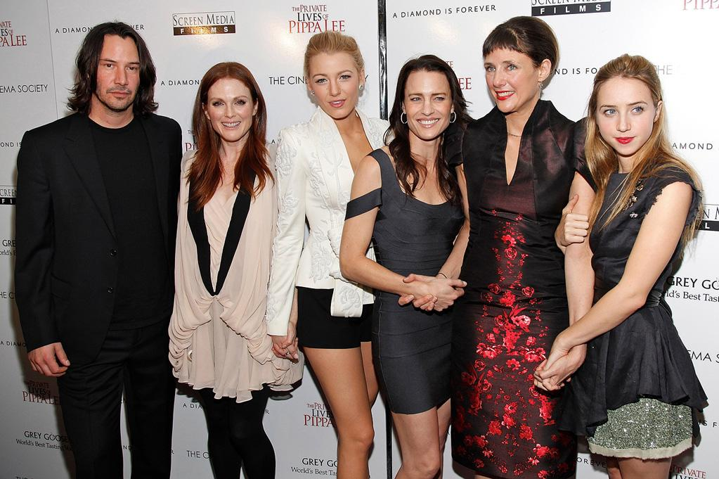 "<a href=""http://movies.yahoo.com/movie/contributor/1800019596"">Keanu Reeves</a>, <a href=""http://movies.yahoo.com/movie/contributor/1800020233"">Julianne Moore</a>, <a href=""http://movies.yahoo.com/movie/contributor/1808631078"">Blake Lively</a>, <a href=""http://movies.yahoo.com/movie/contributor/1800019047"">Robin Wright Penn</a>, <a href=""http://movies.yahoo.com/movie/contributor/1800178124"">Rebecca Miller</a> and <a href=""http://movies.yahoo.com/movie/contributor/1809856324"">Zoe Kazan</a> at the New York City Cinema Society screening of <a href=""http://movies.yahoo.com/movie/1810025242/info"">The Private Lives of Pippa Lee</a> - 11/15/2009"