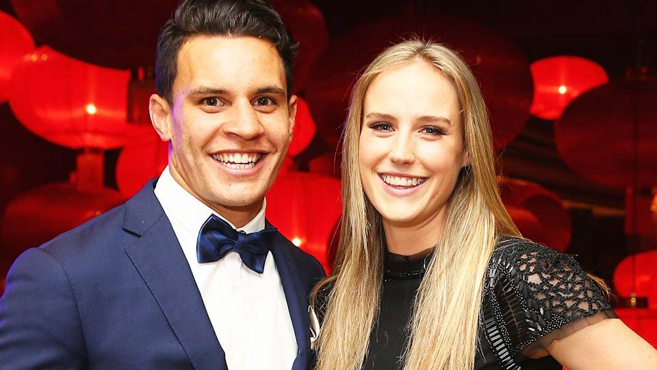 Matt Toomua and Ellyse Perry, pictured here at the 2016 Allan Border Medal ceremony.