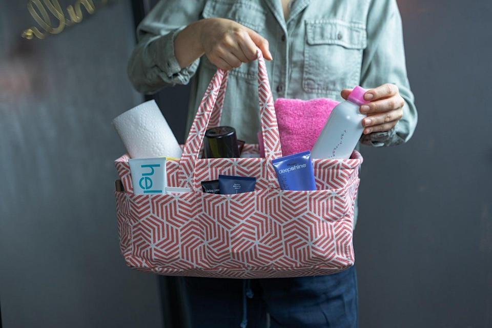<p>Whether they're going on a trip or just want to organize under their sink, they can use this helpful <span>Caddy Organizer</span> ($25).</p>
