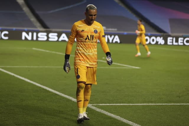 PSG goalkeeper Keylor Navas is an injury doubt for the Champions League final