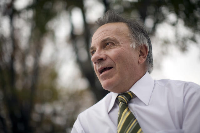 Then-Rep. Tom Tancredo (R-Colo.) is seen in Washington, D.C., Oct. 23, 2007. (Chuck Kennedy/MCT via Getty Images)