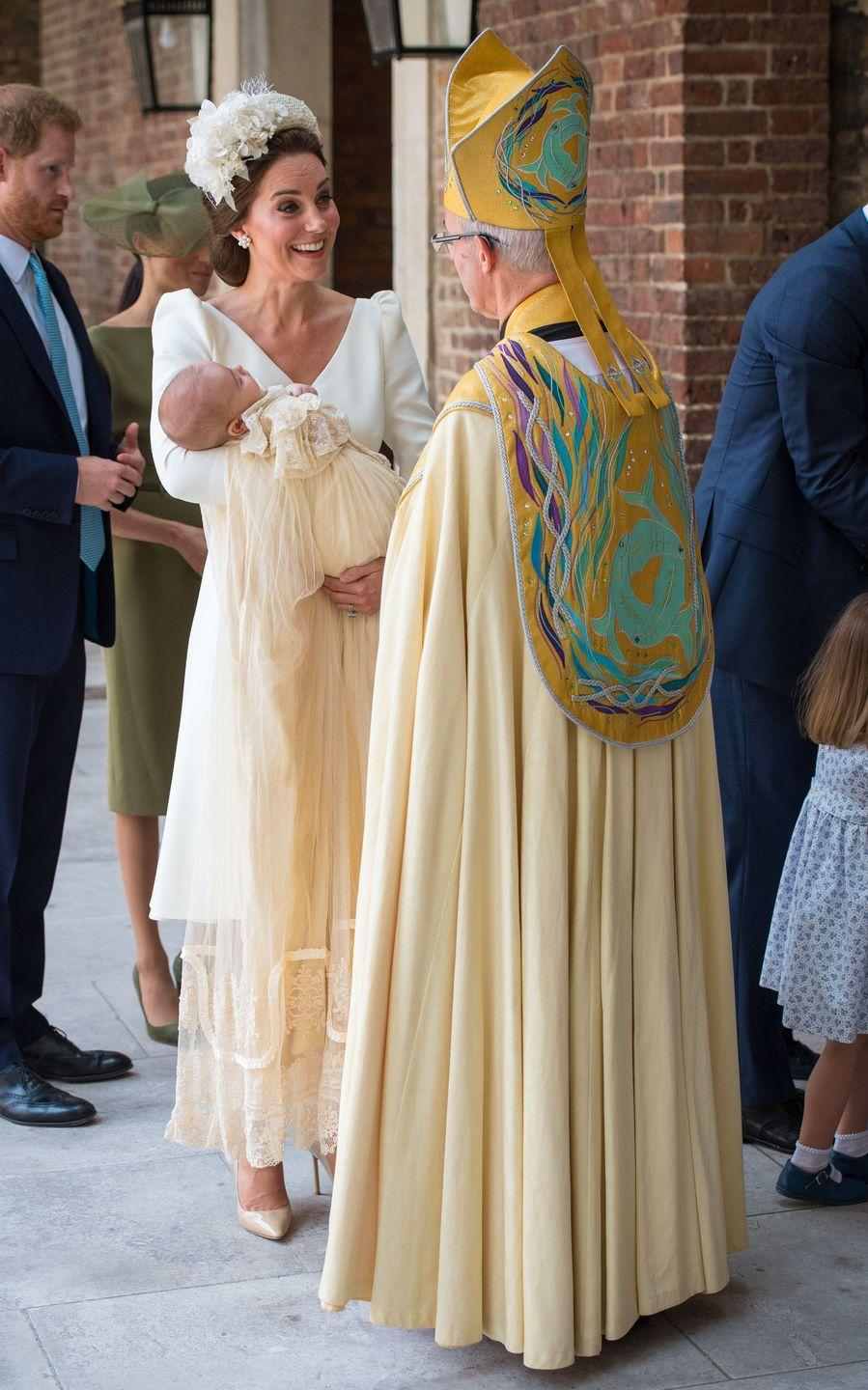 """<p>Queen Elizabeth II is the head of the church and, as such, all of the members of her family <a href=""""https://www.goodhousekeeping.com/life/parenting/g5096/royal-family-baby-traditions/?slide=24"""" rel=""""nofollow noopener"""" target=""""_blank"""" data-ylk=""""slk:must be baptized"""" class=""""link rapid-noclick-resp"""">must be baptized</a>—even <a href=""""https://www.dailymail.co.uk/news/article-5474919/Meghan-Markle-baptised-secret-ceremony-Chapel-Royal.html"""" rel=""""nofollow noopener"""" target=""""_blank"""" data-ylk=""""slk:Meghan Markle was anointed"""" class=""""link rapid-noclick-resp"""">Meghan Markle was anointed</a> before her 2018 wedding. The ceremony is overseen by the Archbishop of Canterbury and features Holy Water from the Jordan River. </p>"""