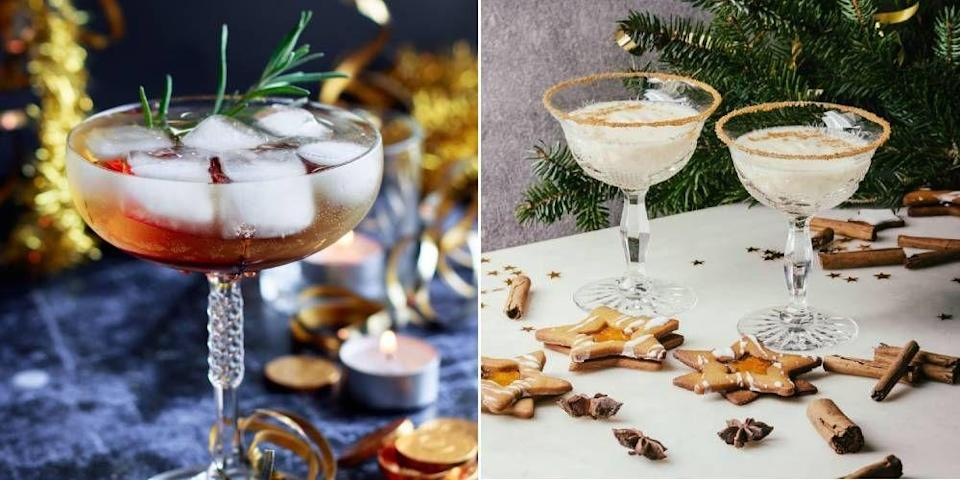 """<p>This festive period more than ever, you'll probably want a good drink idea up your sleeve. Step forward: <a href=""""https://www.cosmopolitan.com/uk/entertainment/a39642/best-christmas-adverts/"""" rel=""""nofollow noopener"""" target=""""_blank"""" data-ylk=""""slk:Christmas"""" class=""""link rapid-noclick-resp"""">Christmas</a> cocktails. Whether <a href=""""https://www.cosmopolitan.com/uk/worklife/g14195072/prosecco-cocktail-recipes/"""" rel=""""nofollow noopener"""" target=""""_blank"""" data-ylk=""""slk:Prosecco"""" class=""""link rapid-noclick-resp"""">Prosecco</a>, <a href=""""https://www.cosmopolitan.com/uk/worklife/g10022512/gin-cocktail-recipes/"""" rel=""""nofollow noopener"""" target=""""_blank"""" data-ylk=""""slk:gin"""" class=""""link rapid-noclick-resp"""">gin</a> or <a href=""""https://www.cosmopolitan.com/uk/worklife/g32446109/easy-tequila-cocktail-recipes/"""" rel=""""nofollow noopener"""" target=""""_blank"""" data-ylk=""""slk:tequila"""" class=""""link rapid-noclick-resp"""">tequila</a> based, sometimes all it takes is a little tipple to get you in the Christmas spirit (wahey) and properly December ready. So much so, that new research from Ogilvy revealed 50% of 1ooo people surveyed say they will be incorporating cocktails into their Christmas celebrations even more than in previous years. If you're one of them and need more inspo, look no further than our festive recipe ideas. </p>"""
