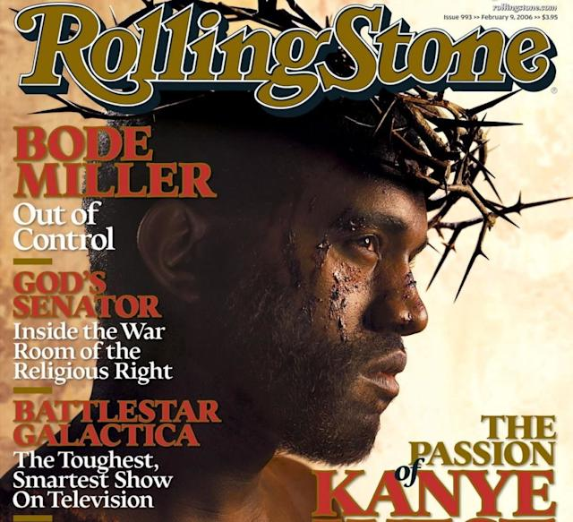 Kanye West on the cover of Rolling Stone, 2006.