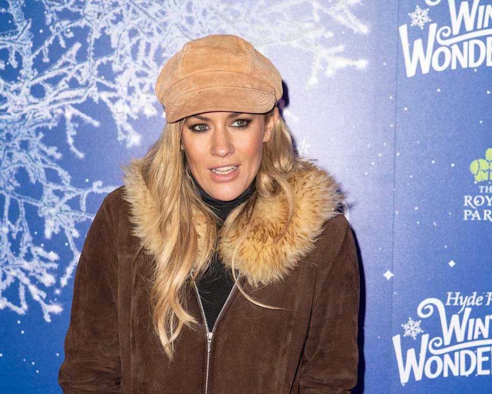 LONDON, ENGLAND - NOVEMBER 20: Caroline Flack attends the launch of Hyde Park Winter Wonderland 2019 on November 20, 2019 in London, England. (Photo by MWE/Getty Images)
