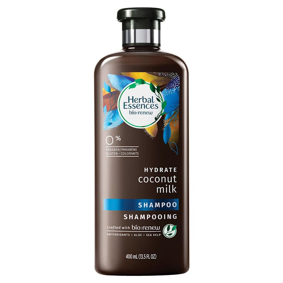 """<p><strong>Herbal Essences</strong></p><p>target.com</p><p><strong>$4.20</strong></p><p><a href=""""https://go.redirectingat.com?id=74968X1596630&url=https%3A%2F%2Fwww.target.com%2Fp%2Fherbal-essences-bio-renew-hydrate-coconut-milk-shampoo-13-5-fl-oz%2F-%2FA-51110960&sref=http%3A%2F%2Fwww.harpersbazaar.com%2Fbeauty%2Fhair%2Fg29657328%2Fbest-shampoo-for-dry-hair%2F"""" target=""""_blank"""">Shop Now</a></p><p>Coconut milk, aloe, and antioxidants join forces to give hair major silkiness in this yummy-smelling bargain formula.</p>"""