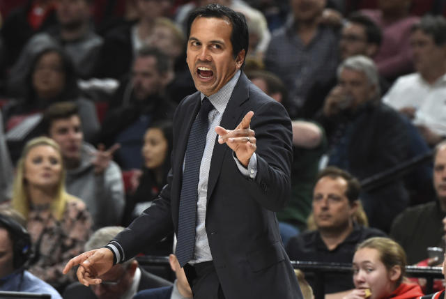 Erik Spoelstra is not the coach you want to face in the first round. (AP)