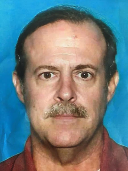 This undated photo provided by the Houston Police Department shows Joseph James Pappas. Authorities on Wednesday, Aug. 1, 2018, identified a man who they believe gunned down one of former President George H.W. Bush's doctors last month as Pappas, the son of a woman who died while the doctor was operating on her more than 20 years ago. (Texas Department of Public Safety/Houston Police Department via AP)