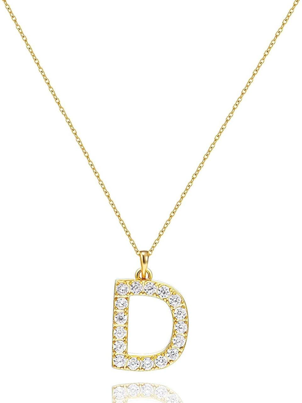 <p>Get ready to sparkle with this <span>Tarsus Initial Cubic Zirconia Necklace</span> ($10).</p>