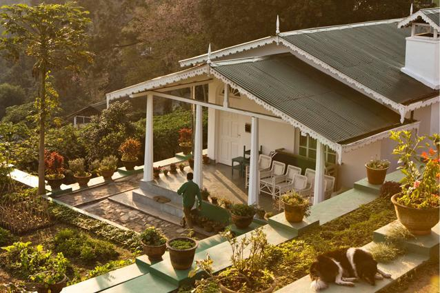 Glenburn-Tea-Estate-Darjeeling-by-Martin-Morrell - Overlooked by the mighty Kanchenjunga, the tea estates around Darjeeling offer some of India's most idyllic scenery. Hidden among their emerald hillsides is the Glenburn Tea Estate. Each of its eight suites comes kitted out in lavish colonial style, with four-poster beds and roll-top baths. You'll be woken each morning wat outdoors, book a stay in the Glenburn Lodge and Campsite on the banks of the River Teesta