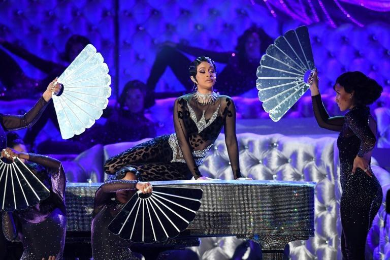 US rapper Cardi B, shown here performing at the 2019 Grammys, has drawn praise and criticism for her unabashed celebration of female sexuality