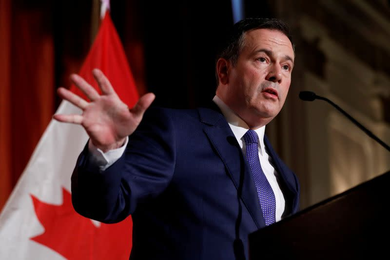 FILE PHOTO: Alberta Premier Jason Kenney speaks at an event in Ottawa