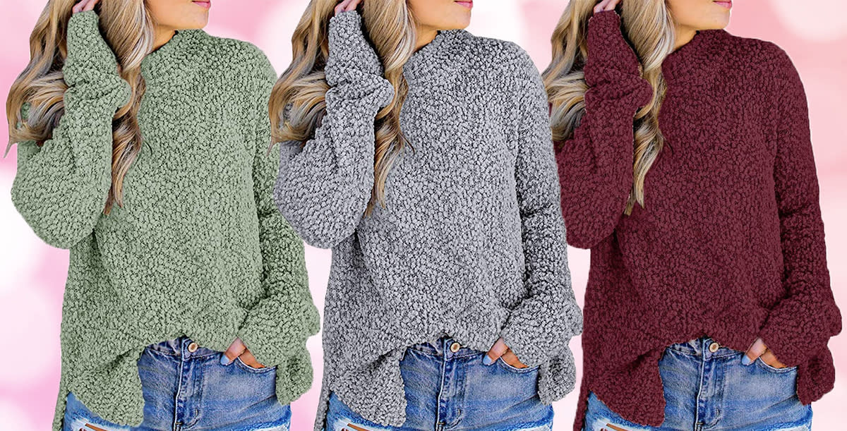How cute is this fuzzy knit? (Photo: Amazon)