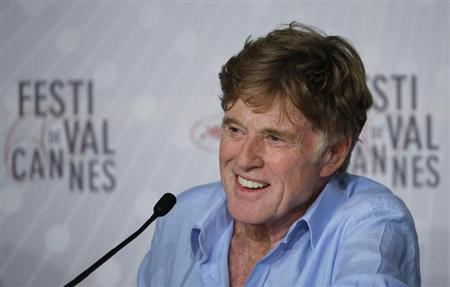 "Actor Robert Redford attends a news conference for the film ""All is Lost"" during the 66th Cannes Film Festival"