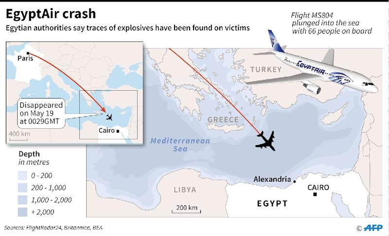 Egyptair: traces of explosives found (AFP Photo/)