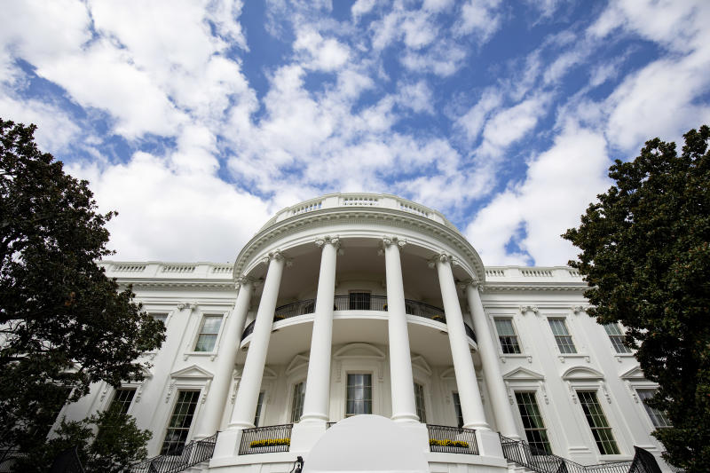 The White House in Washington, after the president returned from golfing, Oct. 5, 2019. (Samuel Corum/The New York Times)
