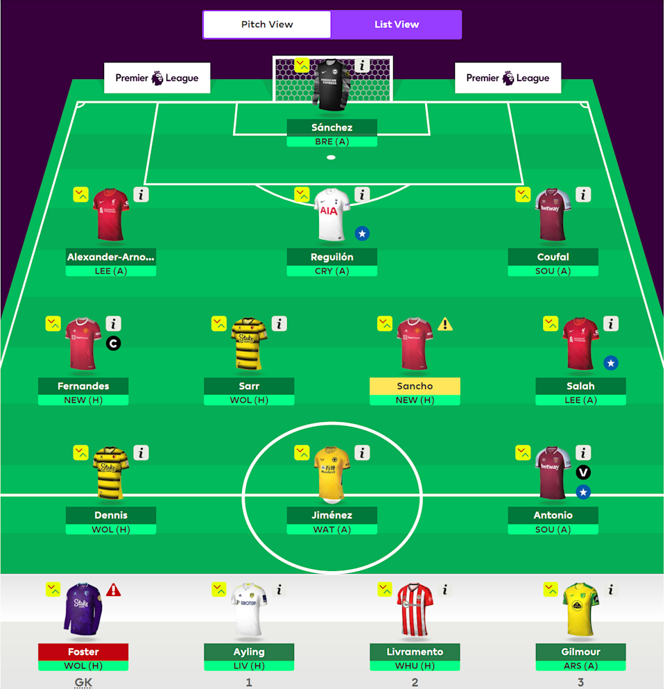 Chuck goes through his FPL side headlined by Jadon Sancho, Bruno Fernandes, and Michail Antonio