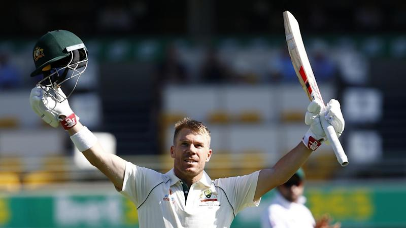 David Warner has hit 151no to put Australia on top of Pakistan in the first Test at the Gabba