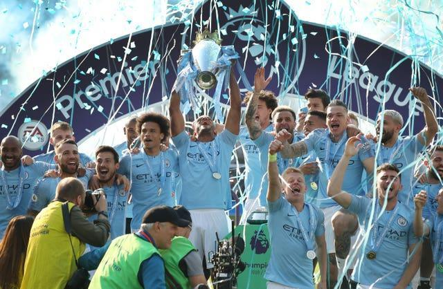 Guardiola's side won the title with 100 points in 2018 and then claimed an unprecedented domestic treble the following year