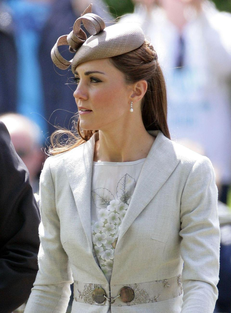 <p>She wore it a second time to attend the wedding of Emily McCorquodale and James Hutt in Grantham, England. </p>
