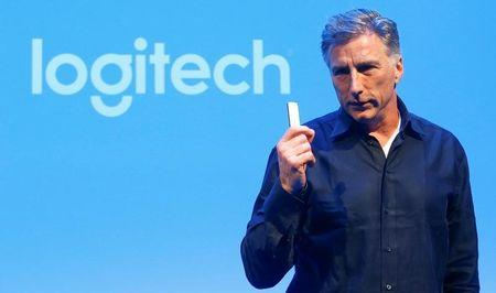 Chief Executive Bracken Darrell of the computer peripherals maker Logitech addresses the company's annual news conference in Zurich, Switzerland April 26, 2017. REUTERS/Arnd Wiegmann