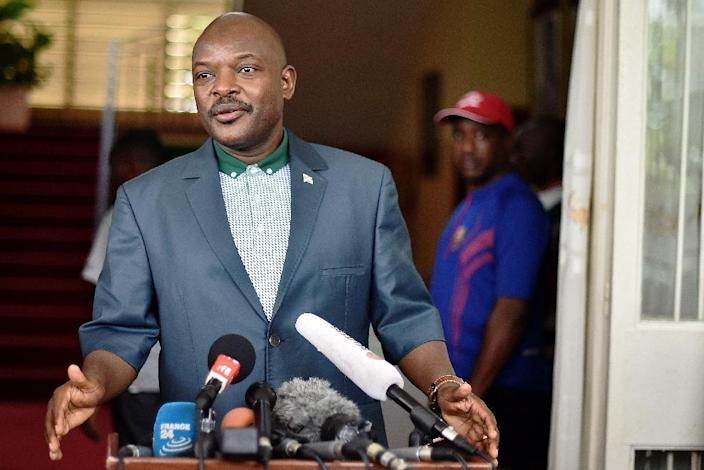 Unrest in Burundi was triggered by President Pierre Nkurunziza's bid for a third term in office (AFP Photo/Carl De Souza)